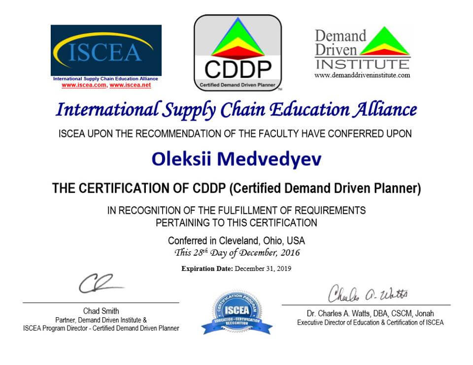 CDDP (Certified Demand Driven Planner)