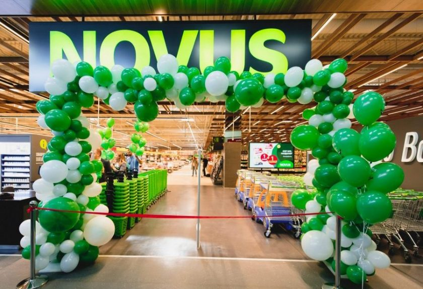 Открытие самого крупного супермаркета торговой сети Novus