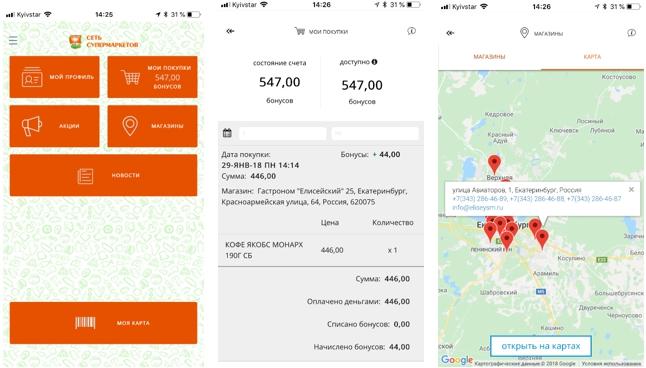 Информирование клиентов о функционале мобильного приложения