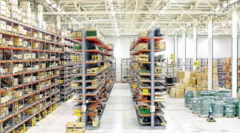 Auto parts warehouse: sectoral inventory system of spare parts in warehouse