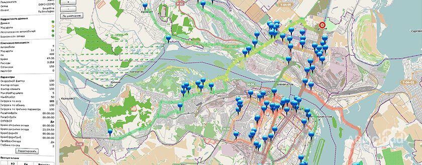Расчет оптимальных маршрутов и динамическое планирование в дистрибуции